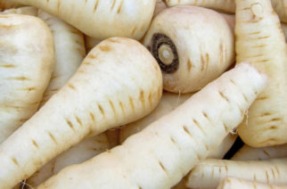 A bunch of parsnips on the market